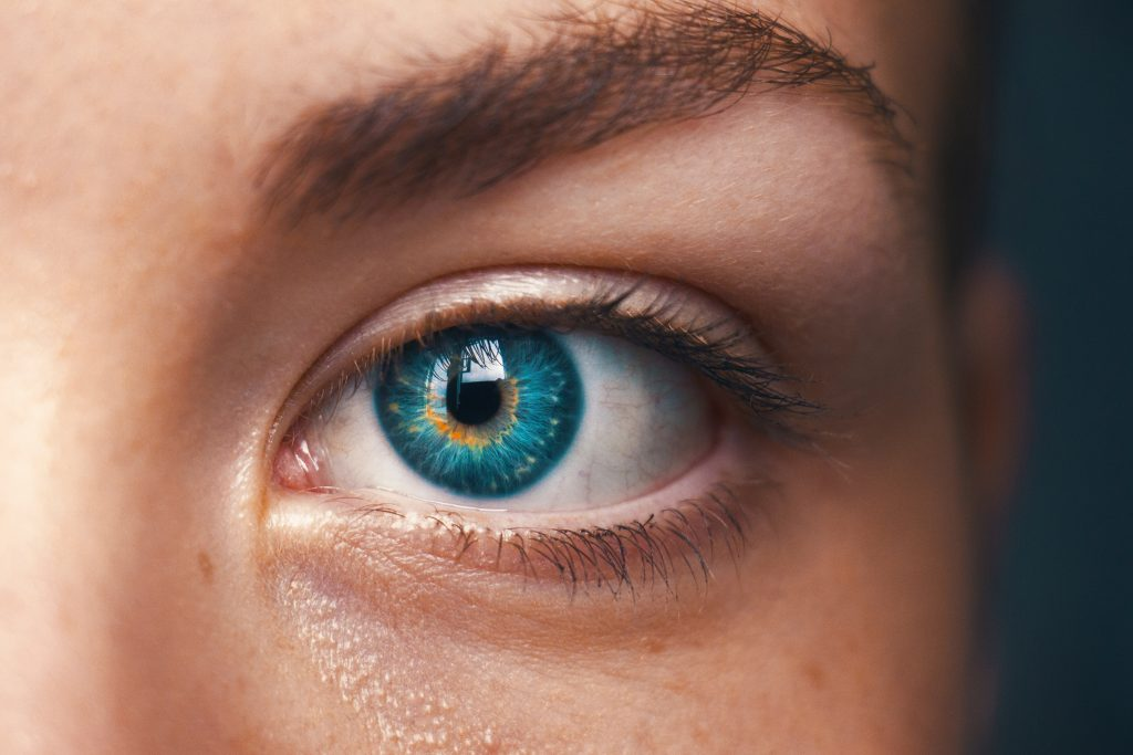 a person's left eye
